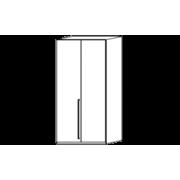 Шкаф 2-х дверный Treviso Grey арт. ERTRBWHAR02