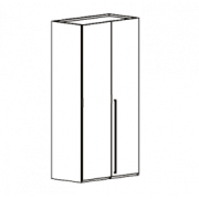 Шкаф 2-х дверный Volare Black арт. VOBBLAR02